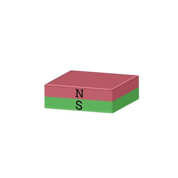 Quadermagnet 15x15x3 mm vernickelt - Neodym – Bild 2