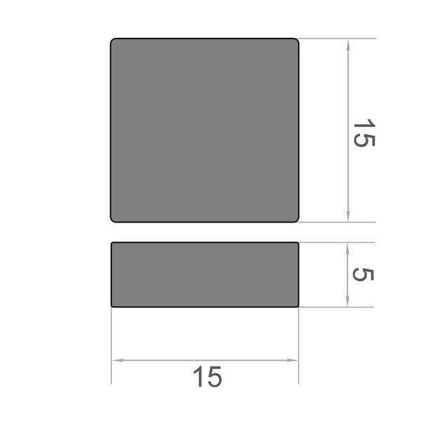 Quadermagnet 15x15x5 mm vernickelt - Neodym – Bild 3