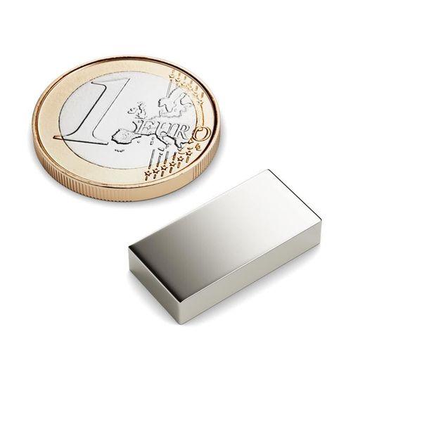 Quadermagnet 20x10x4 mm vernickelt - Neodym – Bild 1