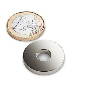 Magneti ad anello Ø 22.5-7.5x3 mm nichel – neodimio – Bild 1