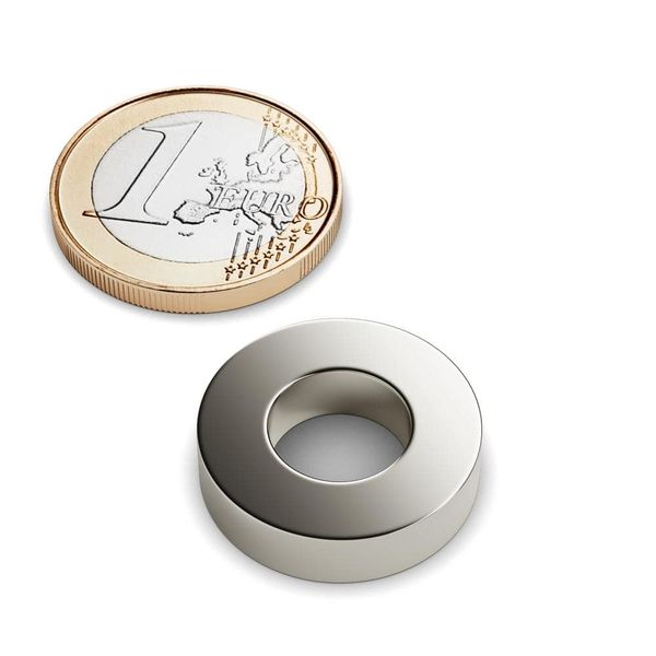 countersunk magnet Ø 20 mm nickel plated – neodymium – photo 1