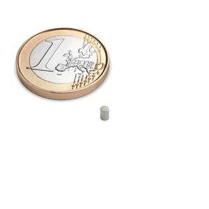 Scheibenmagnet Ø 2x3 mm vernickelt - Neodym – Bild 1