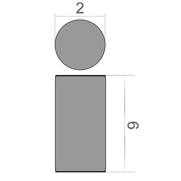 Scheibenmagnet Ø 2x6 mm vernickelt - Neodym – Bild 3