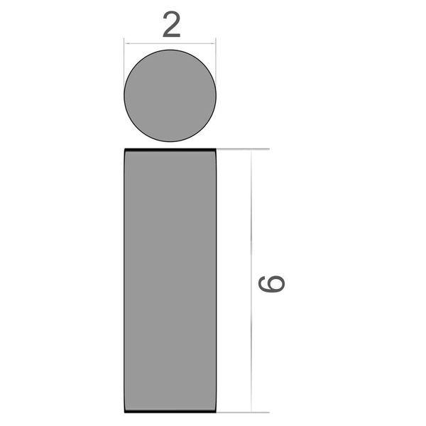 disc magnet Ø 2x9 mm nickel plated - neodymium – photo 3