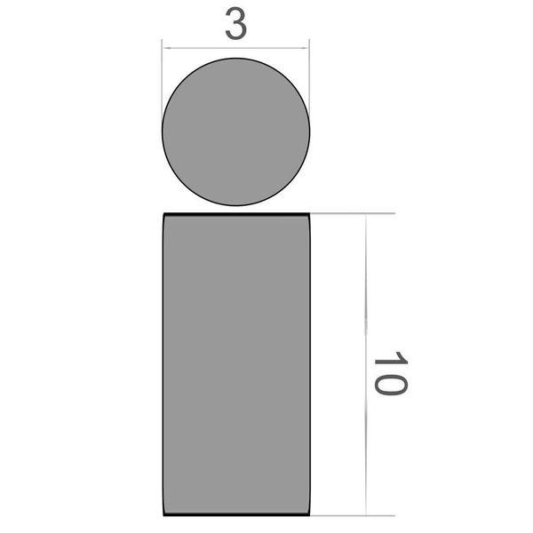 Scheibenmagnet Ø 3x10 mm vernickelt - Neodym – Bild 3