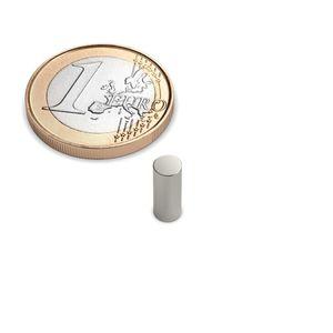 Scheibenmagnet Ø 4x10 mm vernickelt - Neodym – Bild 1