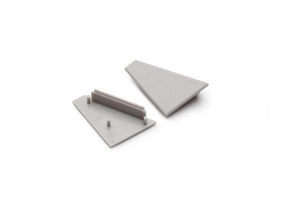 Endkappen-Set-Set für LED Aluminium Profile TURA - grau – Bild 1
