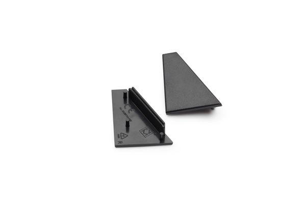 Endkappen-Set für LED Aluminium Profile TURA – schwarz – Bild 1