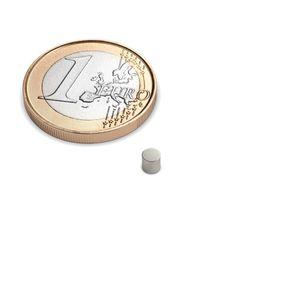 Scheibenmagnet Ø 3x3 mm vernickelt - Neodym – Bild 1