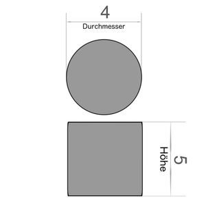 Scheibenmagnet Ø 4x5 mm vernickelt - Neodym – Bild 3