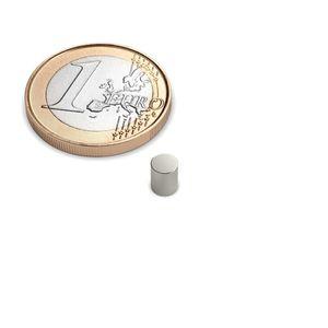 Scheibenmagnet Ø 4x5 mm vernickelt - Neodym – Bild 1
