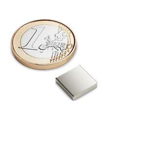 Quadermagnet 10x10x2 mm vernickelt - Neodym – Bild 1