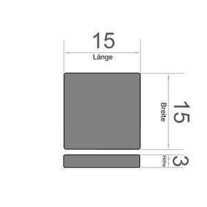 Quadermagnet 15x15x3 mm vernickelt - Neodym – Bild 3