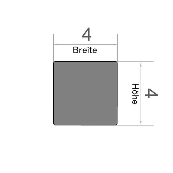 Würfelmagnet 4x4x4 mm vernickelt – Neodym – Bild 3