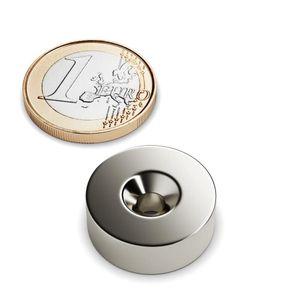 Senkungsmagnet Ø 20 mm vernickelt – Neodym – Bild 1