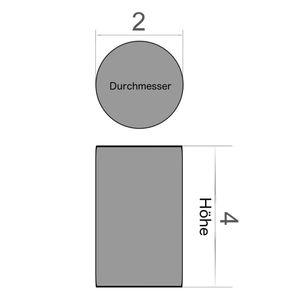 Scheibenmagnet Ø 2x4 mm vernickelt - Neodym – Bild 3