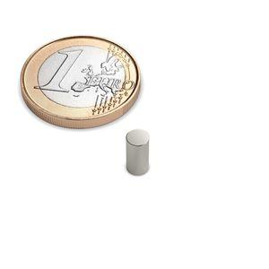 Scheibenmagnet Ø 4x8 mm vernickelt - Neodym – Bild 1