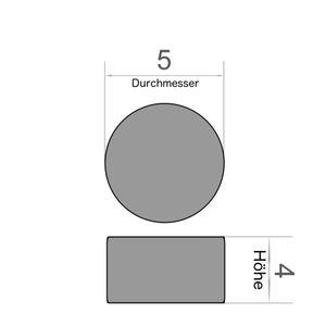 Scheibenmagnet Ø 5x4 mm vernickelt - Neodym – Bild 3