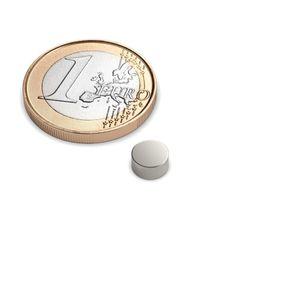 Scheibenmagnet Ø 6x3 mm vernickelt - Neodym – Bild 1