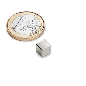 Würfelmagnet 6x6x6 mm vernickelt – Neodym – Bild 1