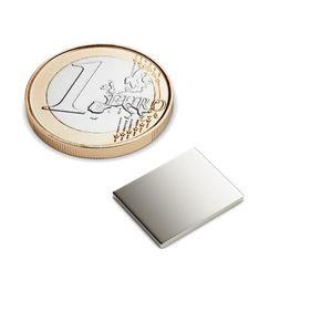 Quadermagnet 15x12x1 mm vernickelt - Neodym – Bild 1