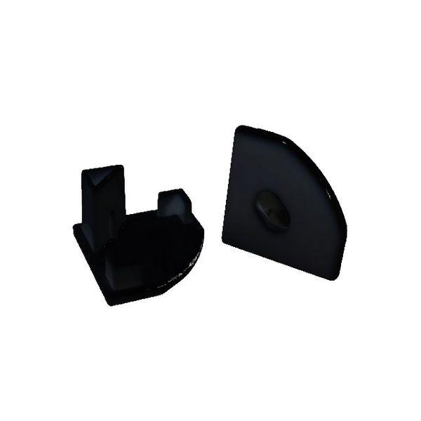 LED Alu Profile Eckprofil / Eck-Profil E45 schwarz für 12mm LED-Streifen mit einklickbarer Abdeckung - Mosel – Bild 5