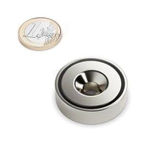 countersunk magnet Ø 40 mm nickel plated – neodymium – Bild 1