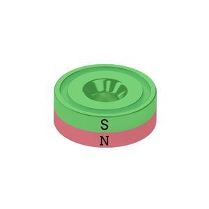 Senkungsmagnet Ø 40 mm als Topfmagnet vernickelt – Neodym – Bild 3