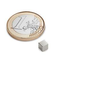 cube magnet 3x3x3 mm nickel plated – neodymium – Bild 1