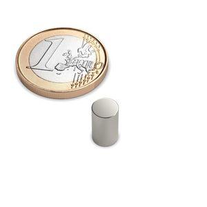 rod magnet Ø 6x10 mm nickel plated - neodymium – Bild 1
