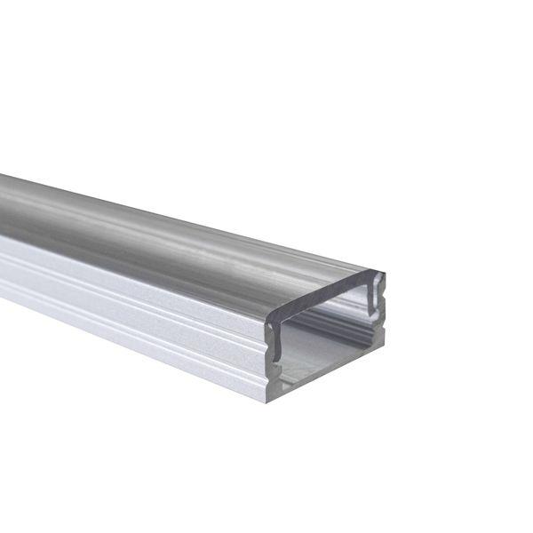 LED Alu Profile Aufputzprofil AKL / U-Profil eloxiert für 12mm LED-Streifen mit einklickbarer Abdeckung - Elbe – Bild 5