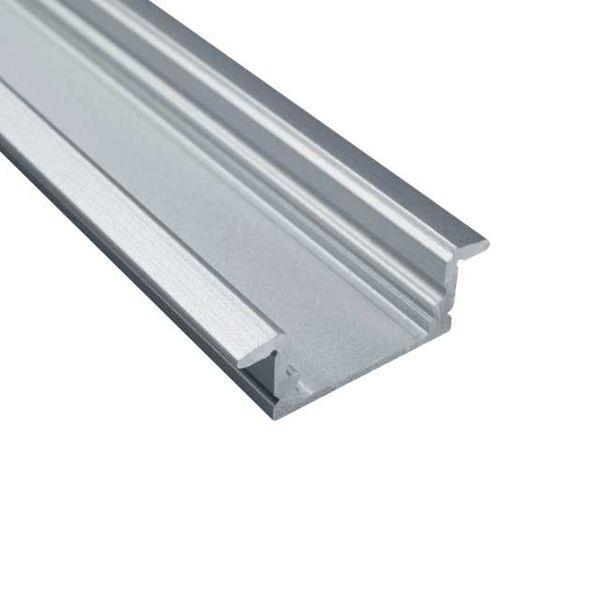 LED Alu Profile Einbauprofil / Flügel-Profil eloxiert für 12mm LED-Streifen mit einklickbarer Abdeckung - Rhein – Bild 7