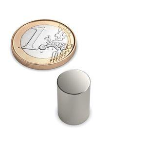 disc magnet Ø 10x15 mm nickel plated - neodymium – Bild 1