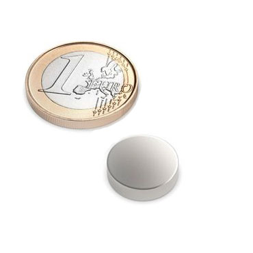 disc magnet Ø 15x3 mm nickel plated - neodymium – photo 1