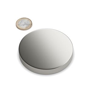 disc magnet Ø 70x10 mm nickel plated - neodymium – Bild 1