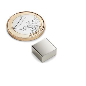 Quadermagnet 10x10x5 mm vernickelt - Neodym – Bild 1