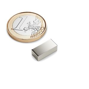 cuboid magnet 13x6x4 mm nickel plated - neodymium 001