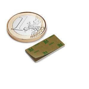 magnete cuboide 20x10x1 mm autoadesivo nichel - neodimio – Bild 1