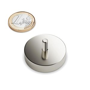 pot magnet with thread Ø 32 mm – neodymium – Bild 1