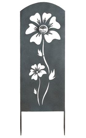 Gartenstecker Blume antik grau Höhe 90 cm