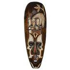 Wand - Maske BUMBO 50cm, handgeschnitzt und handbemalt 001