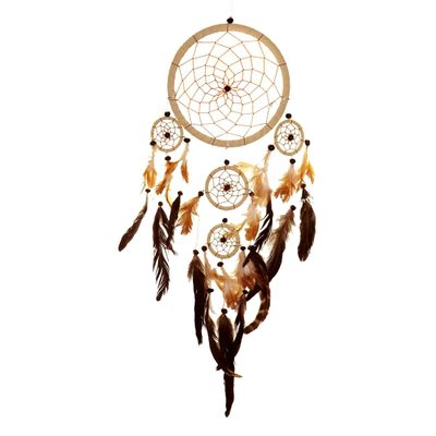 "Traumfänger - Dreamcatcher ""Happy Dreams""  16 cm & 4 x klein natur"