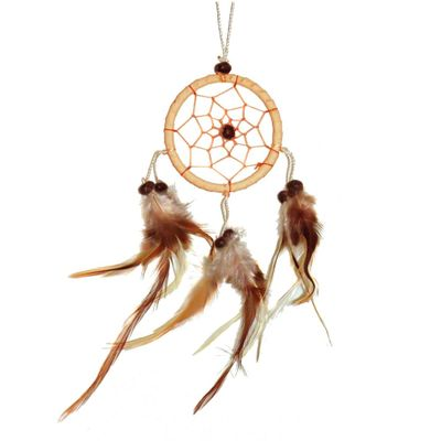 "Traumfänger - Dreamcatcher ""Happy Dreams""  6 cm natur"