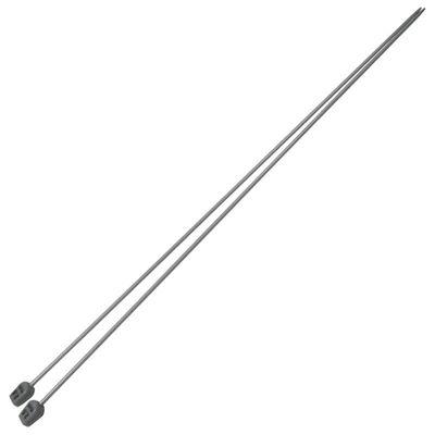 1 Paar Aluminium-Stricknadeln Stärke 2,5mm gerade 35cm Aluminium-Legierung robust Metall