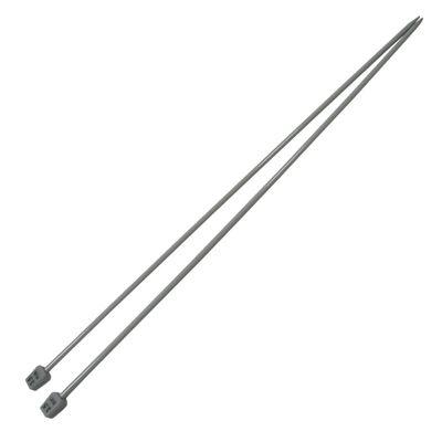 1 Paar Aluminium-Stricknadeln Stärke 3,5mm gerade 35cm Aluminium-Legierung robust Metall