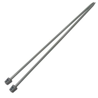 1 Paar Aluminium-Stricknadeln Stärke 6mm gerade 35cm Aluminium-Legierung robust Metall