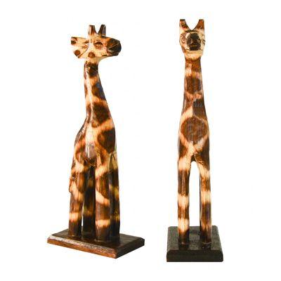 1 Giraffe aus Holz, Deko-Giraffe, Grösse: ca. 20 cm