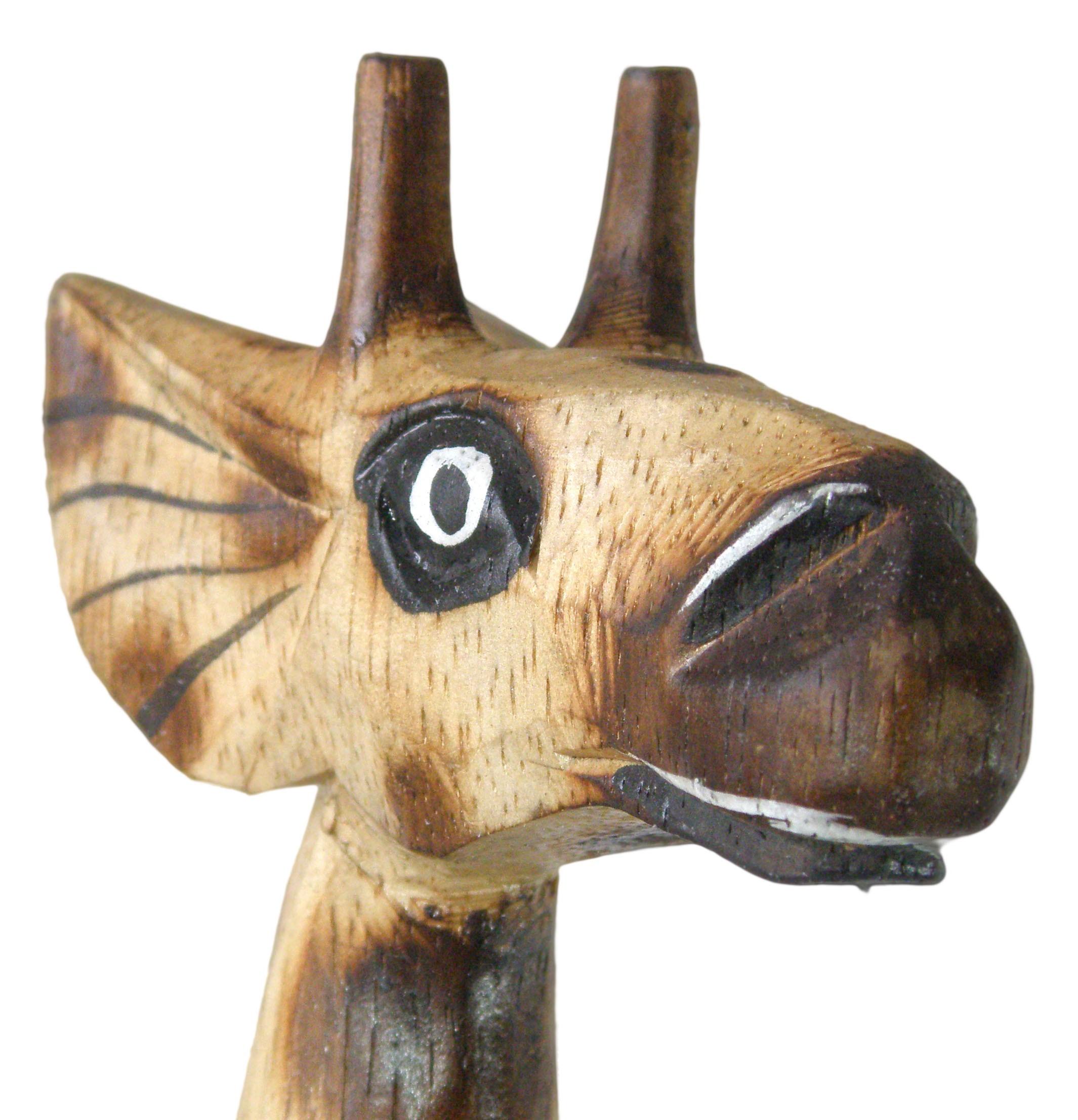 1 Giraffe aus Holz, Deko-Giraffe, Fire Paint, 50 cm Figur Standfigur Holzgiraffe – Bild 3