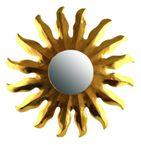 Deko-Spiegel SUN, Holz, Wandschmuck, gold, Grösse: ca. 40 cm, in 4 Größen verfügbar 001