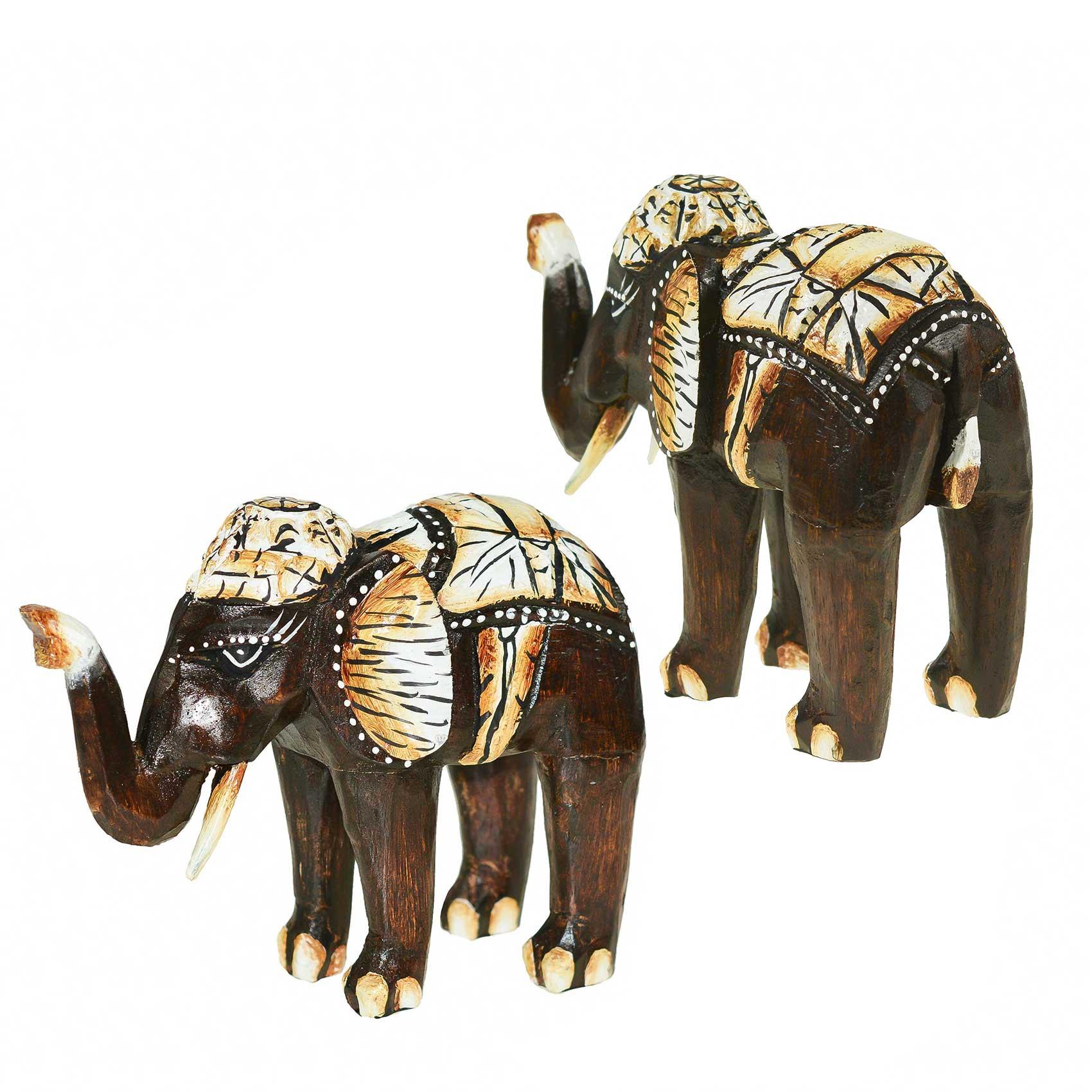3er-Set Elefanten Bumbo aus Albesia-Holz, Deko-Elefanten, 15, 20, 25 cm – Bild 4